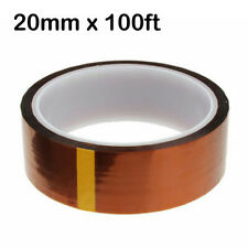 20mmx100ft High Temperature Heat Resistant Polyimide Tapes Sublimation Transfer