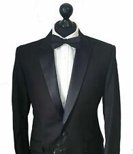 Men's DOBELL Premium Black Tuxedo DINNER JACKET Notch Lapel Slim Fit 42R *BNWT*