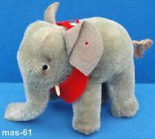 STEIFF ELEFANT GRAU 10 CM STOFFTIER MIT KORDELSCHWANZ 50/60ER JAHRE ELEPHANT