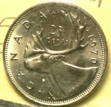1970 Canada 25 Cents  ICCS MS 65  #10009