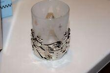 Bnib Gorham 2 Piece ''Snowmen Votive '' Silverplated Giftware