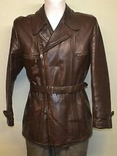 Original 1940s German NSU Flight Leather Jacket DKW Motorcycle Oldtimer Coat BMW