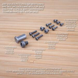Benchmade 551 550 553 Full Griptilian 13pc Titanium Screw & Pivot Set DISTRESSED