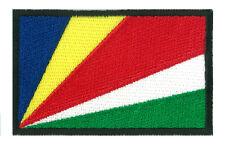 Ecusson patche patch insigne drapeau SEYCHELLES 78 x 48 mm à coudre