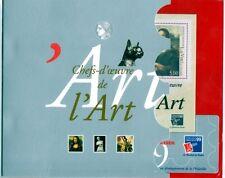 Bloc feuillet chefs d'oeuvre de l'art philexpo 1999, chat, neuf sous cello