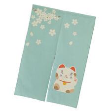 Long Japanese Noren Sakura Fortune Cat Kitchen Door Way Curtain Tapestry