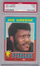 1971 Topps Joe Greene #245, RC, HOF, PSA NM 7, Steelers