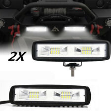 "2x Universal 6"" 48W LED Work Light Flood Bar Driving Fog Lamp Offroad 4WD ATV RV"