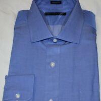 Tommy Hilfiger Men's 100% Cotton Sapphire Blue Regular Fit Dress Shirt 17 32/33