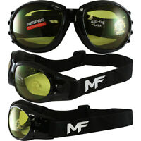 MortaliWear Snow Skiing Snowboarding Motocross ATV BMX Anti-Fog Goggles Unisex for Kids to Adults