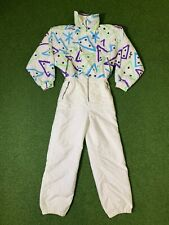 ELHO Vintage 1980s 90s Ski Suit - Snowboard Festival Party - Size 38 AWESOME