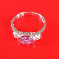 Luxus Ring Exklusiv Modern Echt 925 Sterlingsilber Zirkonia Kristalle