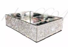 BELLA LUX FULL Rhinestone Crystal Diamond Mirror Soap Dish Bath Bathroom Set