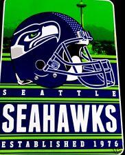 Seattle Seahawks blanket bedding throw 80x60 SILK feel FREE SHIPPING NFL NFC