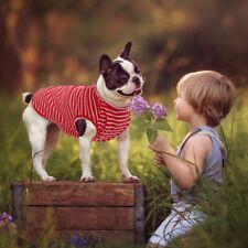 Cat Dog Pajamas T-Shirt Small Dog Striped Cotton Clothes for French Bulldog Pug