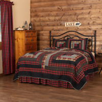 VHC Cumberland Quilt (Your Choice Size & Accessories) Lodge, Country Bedding