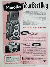 1955 Minolta Autocord A Automatic Camera Your Best Buy Original Color Ad