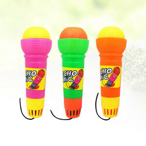 3pcs Echo Microphone Novelty Plastic Multicolor Microphone for Kids
