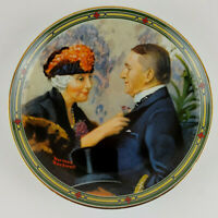 "Norman Rockwell 8.5"" Plate Love's Reward 1987 Rockwell American Dream Collection"