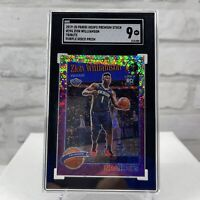 2019-20 Hoops Premium Stock Zion Williamson #296 RC Purple Disco Prizm SGC MT 9