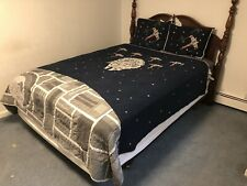 New ListingPottery Barn Kids Star Wars Millennium Falcon Full/Queen Quilt+Std Shams Glows