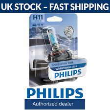 Philips WhiteVision Ultra Car Headlight Bulb H11 (Single Pack) White Vision