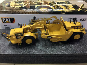 CAT CATERPILLAR 657G WHEEL TRACTOR SCRAPER 1:50 by DIECAST MASTERS 85175