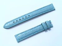 13mm Chopard Uhren Armband Ersatzband Lederarmband Croco blau 70/105 neu C13-02