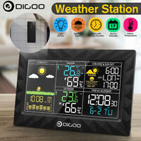 Digital In/Outdoor Weather Station Alarm Clock Calendar Forecast Thermometer  US