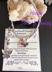 Stress, Depression & Anxiety Healing Gemstone Crystal Bracelet Gift Set.