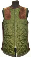 VINTAGE BARBOUR QUILTED SHOOTING WAISTCOAT GILET GREEN SIZE M