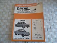 REVUE TECHNIQUE SKODA 1000 MB - S 100 - S 110 BERLINE et COUPE