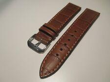 RIOS1931 Crocodile Watch Band 20-18 Brown