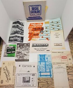 Vtg Walthers Atlas Rio Grand Railroad Toy Train HO Decals Catalog Paper Book Lot