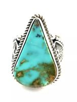 Native American Sterling Silver Navajo Royston Turquoise Ring Size : 10
