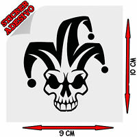 Sticker Adesivo Prespaziato Decal Skull Teschio Jolly Auto Scooter Moto