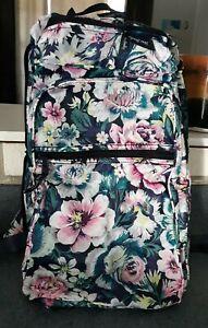 JJ Vera Bradley Packable Navy  Blur Floral Foldable Travel Backpack