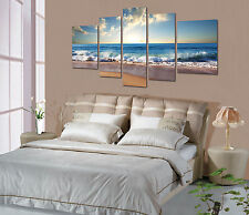 Not Framed Canvas Print Home Decor Wall Art Picture Blue Wave Beach Seascape