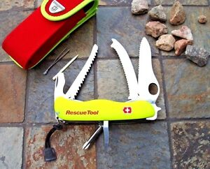 Victorinox RESCUE TOOL Original Swiss Army Knife Yellow NEW Red Pouch Authentic