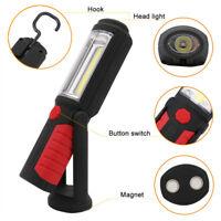 Magnetic 2in1 COB LED Arbeitsleuchte Taschenlampen Stablampe Werkstatt Handlampe