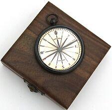Brass Pocket Compass Dollond London –Watch Type Compass