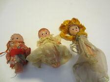 Kewpie celluloid plastic lot of 3 showgirl kimono bride Vintage