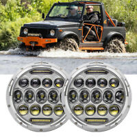 "Fit For Suzuki Sierra LJ80 SJ80 SJ80V 1pr LED 7"" Round Headlights Lights"