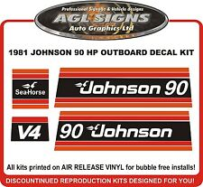 1981 JOHNSON 90 HP  Outboard Decal kit reproductions  70 HP 75 hp also