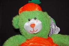 "GREEN ORANGE PUMPKIN BEAR HALLOWEEN 10"" NWT SUGARLOAF  Plush Stuffed Animal"