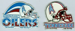 1996 & 1997 Houston Oilers & Tennessee Oilers Magnets 2-3 inches