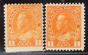 CANADA 1911/25 STAMP Sc. # 105/105d MH