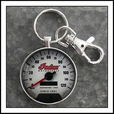 Indian Motorcycle Speedometer Photo Keychain 🏍🎁