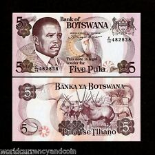 BOTSWANA 5 PULA P11 a 1992 BIRD UNC GEMS BOK ANTELOPE ANIMAL MONEY BILL BANKNOTE