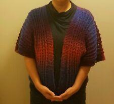 hand-knitted elegant wool  shawl/cape/sweater/cardigan(08)